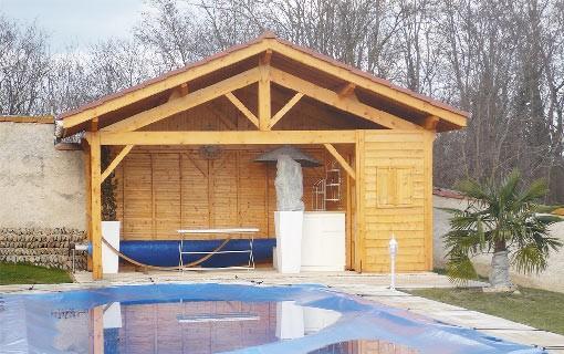 Pool House en Bois
